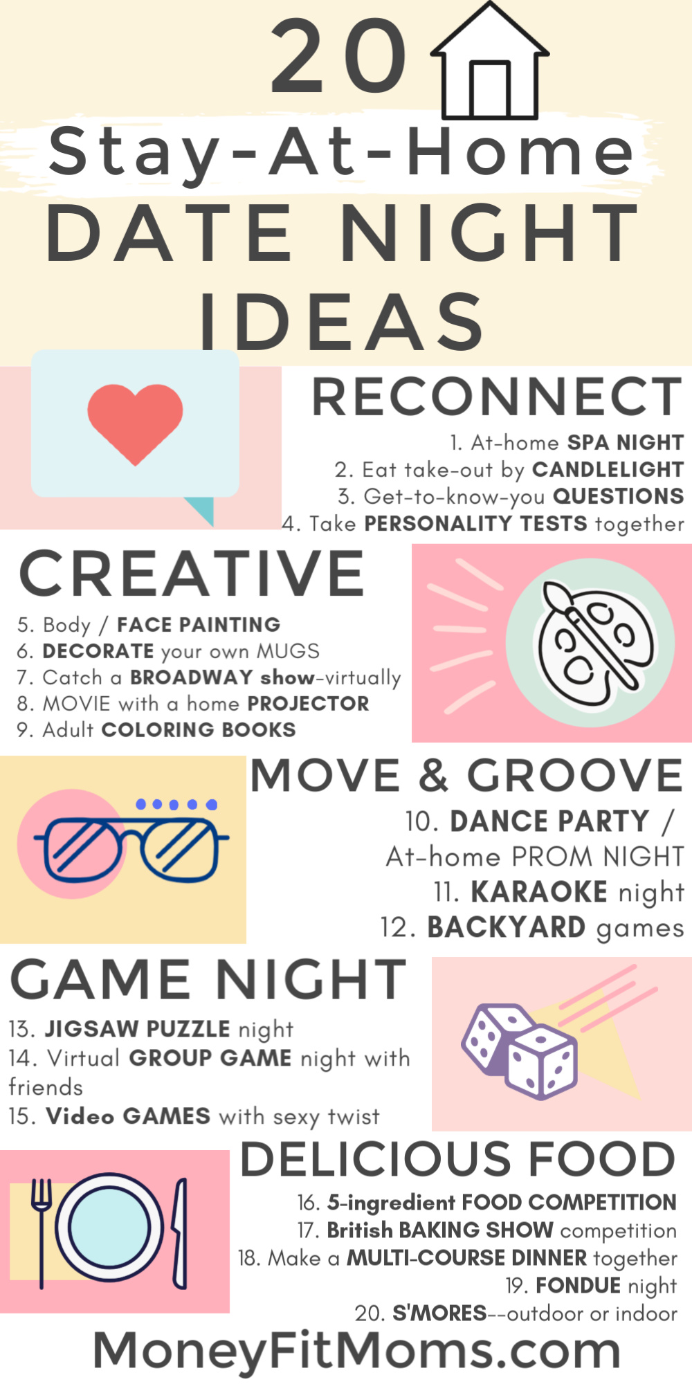 20 stay-at-home date night ideas