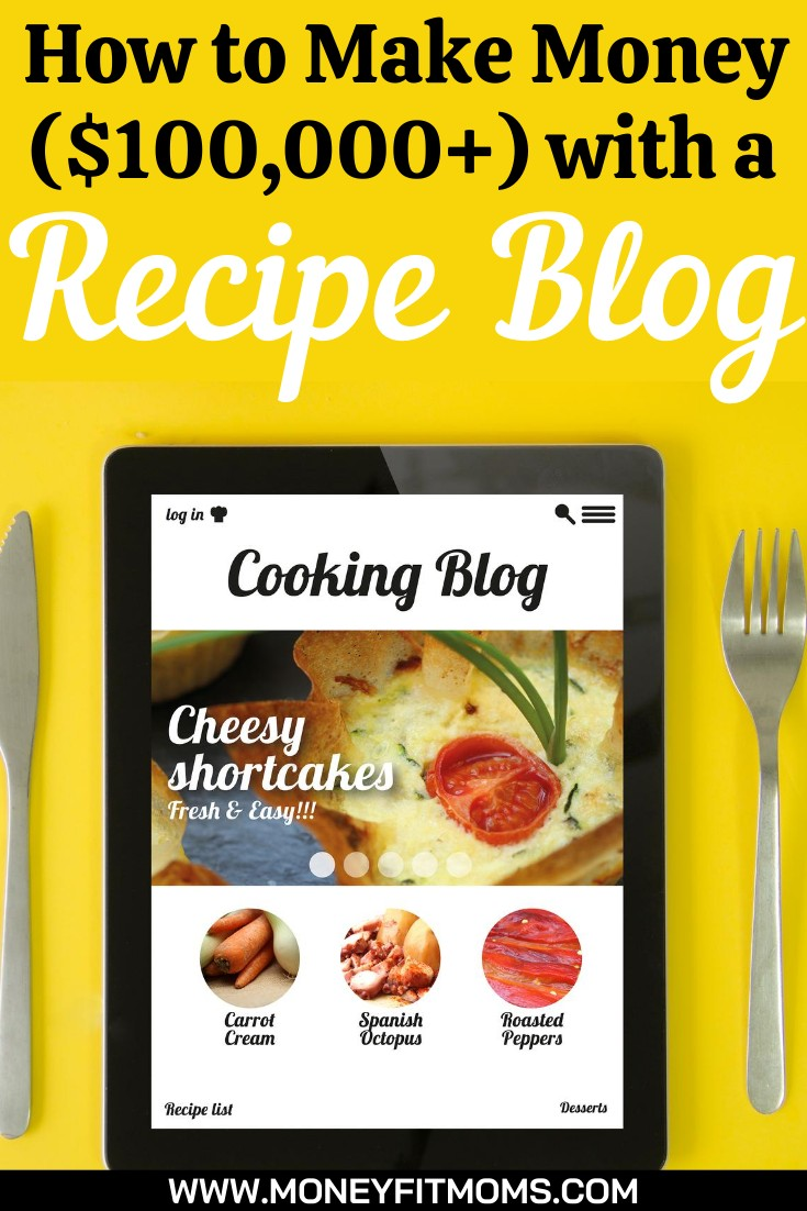 How to make money with a recipe blog - money fit moms